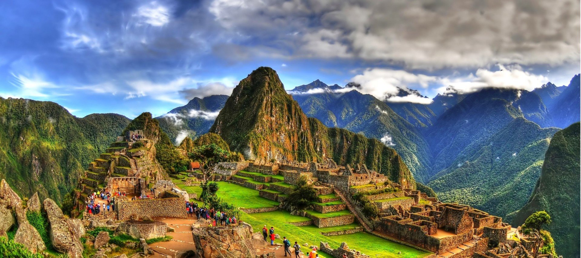 Views of mountains that travelers see on one of our Machu Picchu tours