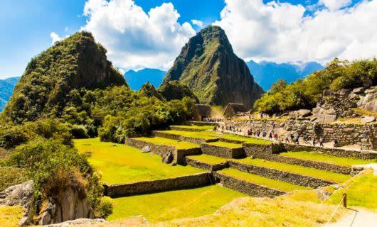 Walls of ruins near Machu Picchu