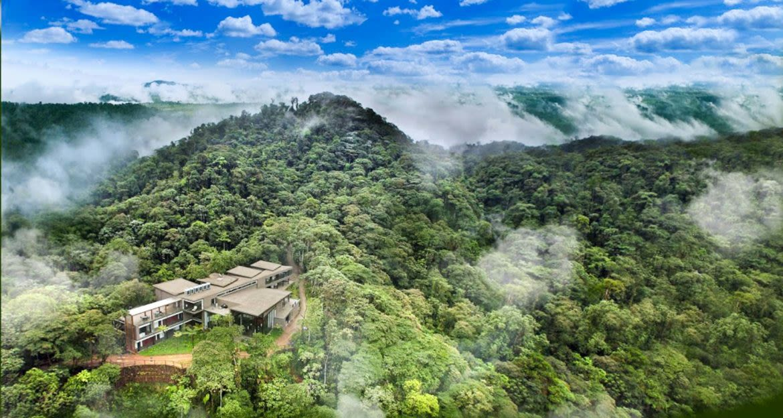 Aerial view of Mashpi Lodge