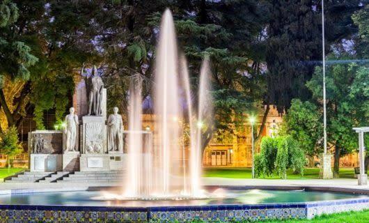 Fountain in Mendoza City plaza