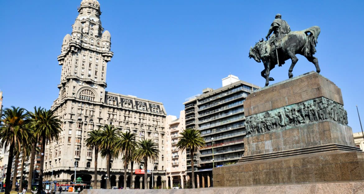 State in plaza of Montevideo, Uruguay