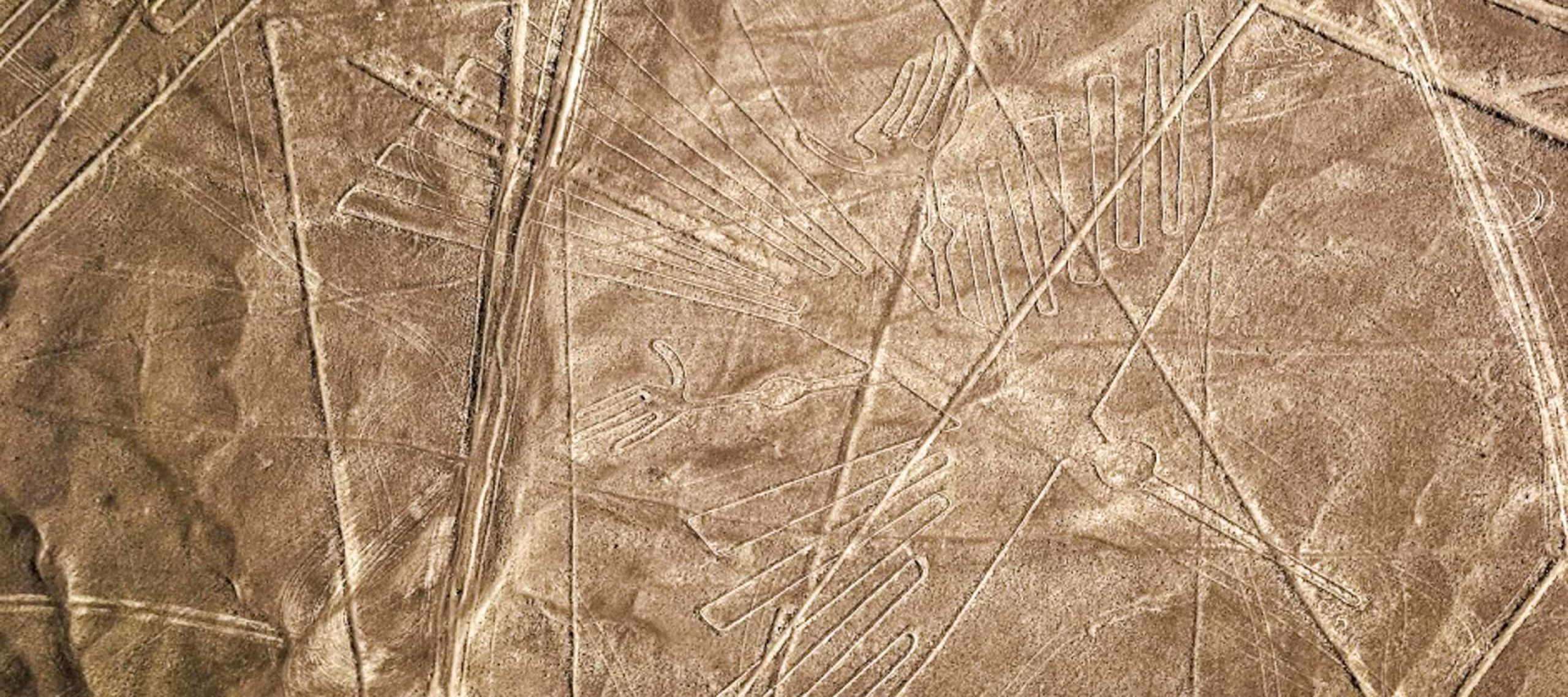 Aerial view of Nazca Lines