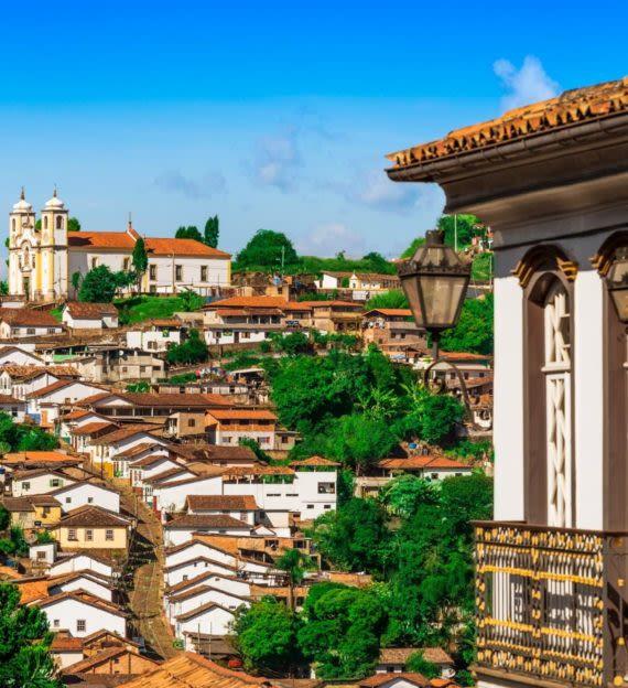 Ouro Preto rooftops in Brazil