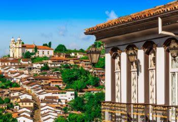 Ouro Preto rooftops in Minas Gerais Brazil
