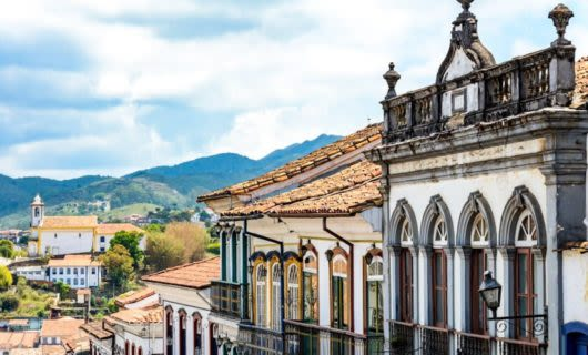 Rooftops of buildings in Ouro Preto, Brazil