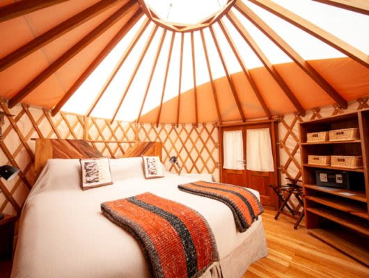 Patagonia Camp room interior