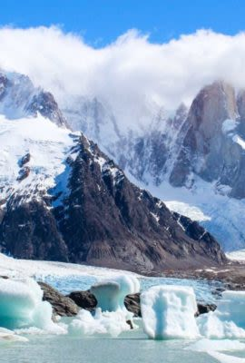 Glacial landscape are often explored by our guests on their Patagonia tours to the mountains