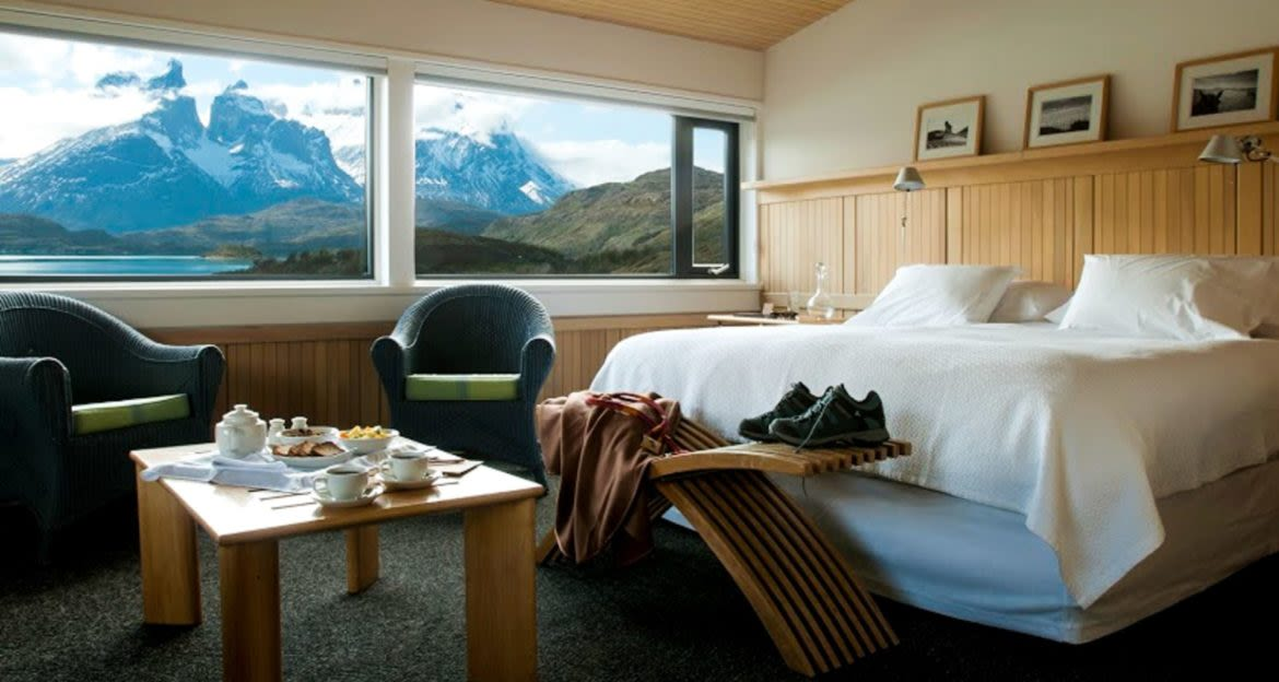 Interior of Patagonia hotel bedroom