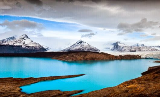 Panoramic image of Patagonia mountains