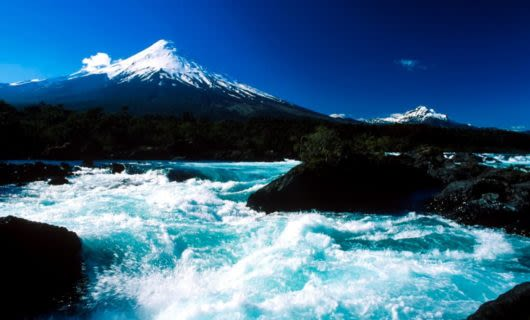 Patagonia river near mountain