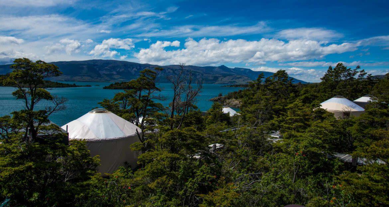 Patagonia Camp yurts near water