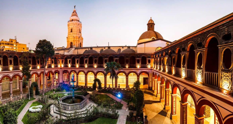Courtyard of monastery in Peru