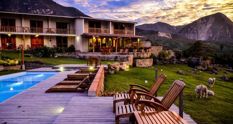 Pool balcony at Peru resort