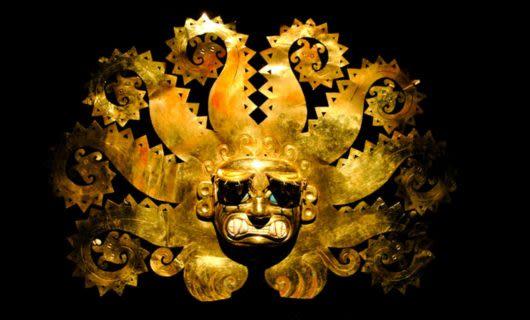 Gold Peruvian mask