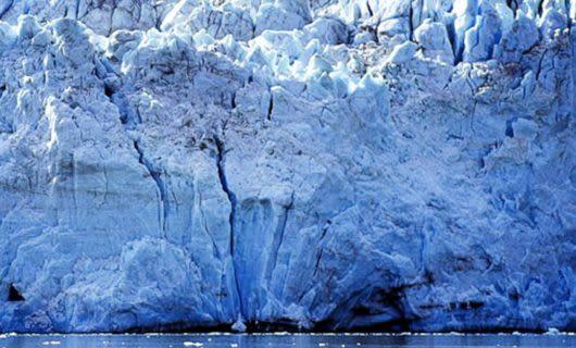 Wall of Pia Glacier in Chile