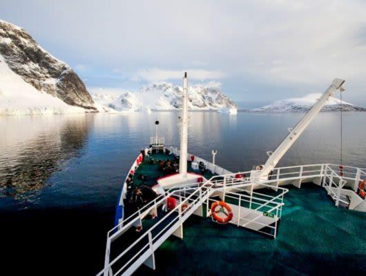 Deck of Plancius Antarctica cruise ship