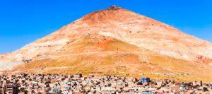 Mountain over Potosi town