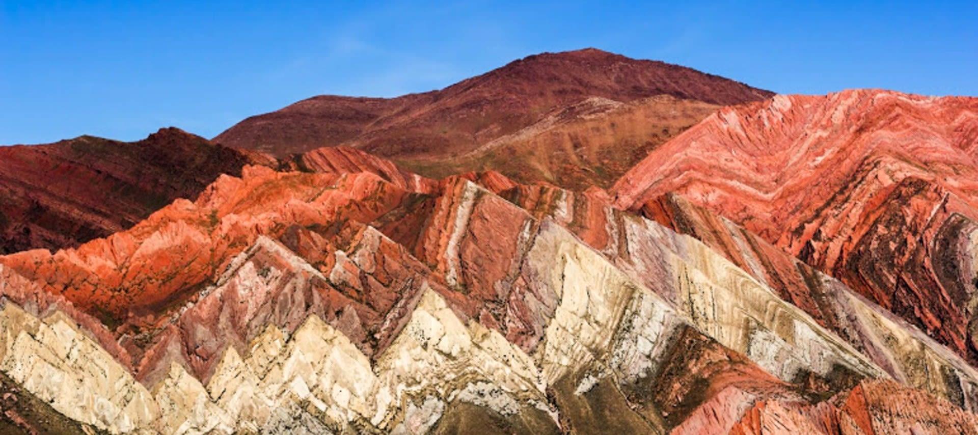 view of the colorful quebrada humahuaca