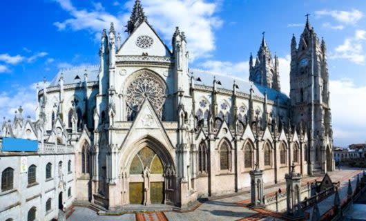 Large cathedral in Quito, Ecuador