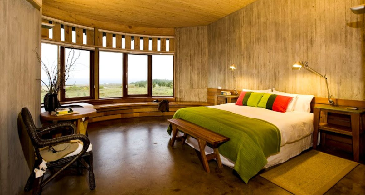 Interior of Rapa Nui lodge bedroom