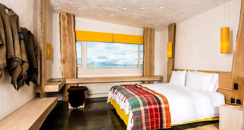 Interior of Remota Patagonia bedroom