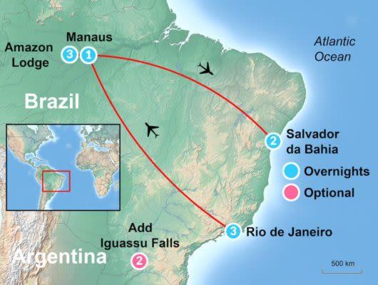 Brazil Itinerary Map