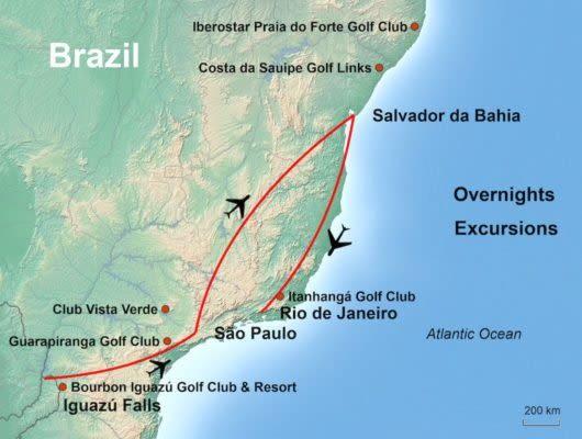 tour map iguazu
