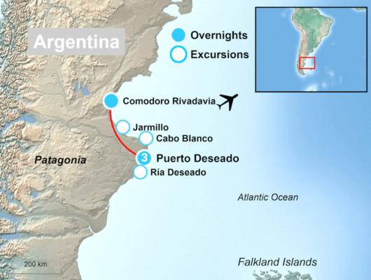 Tour Map Puerto Deseado