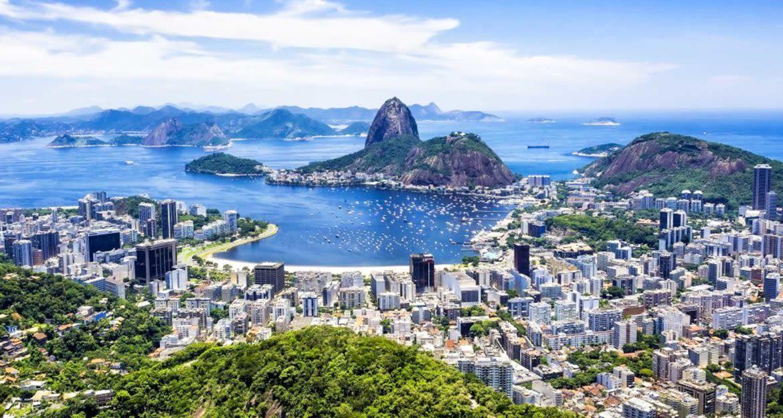Aerial panoramic view of Rio de Janeiro