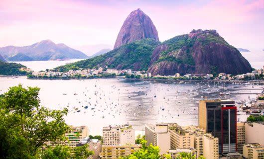 View of Sugarloaf across Rio de Janeiro bay