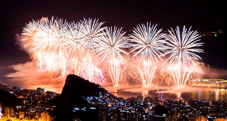 Fireworks over Rio de Janeiro, Brazil