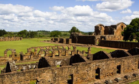 View across South America ruins