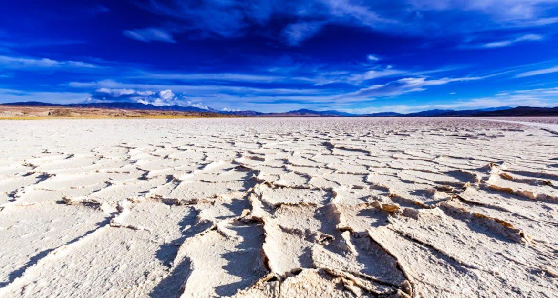 Cracked earth of South America desert