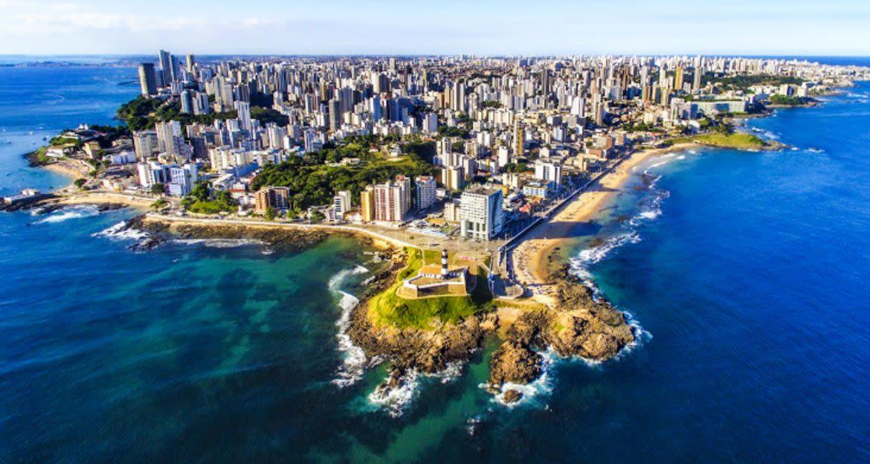 Aerial view of Salvador da Bahia, Brazil