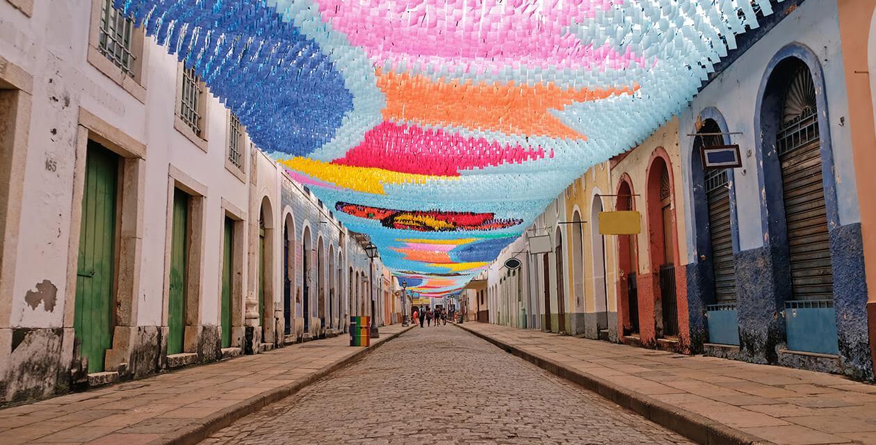 street in sao luis brazil