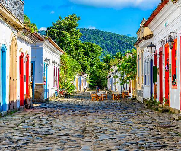old street in Paraty on UNESCO tour