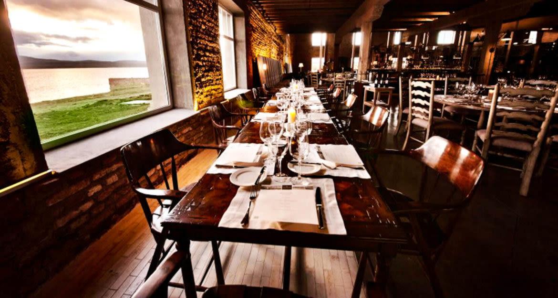 Dining room of Singular Patagonia Hotel