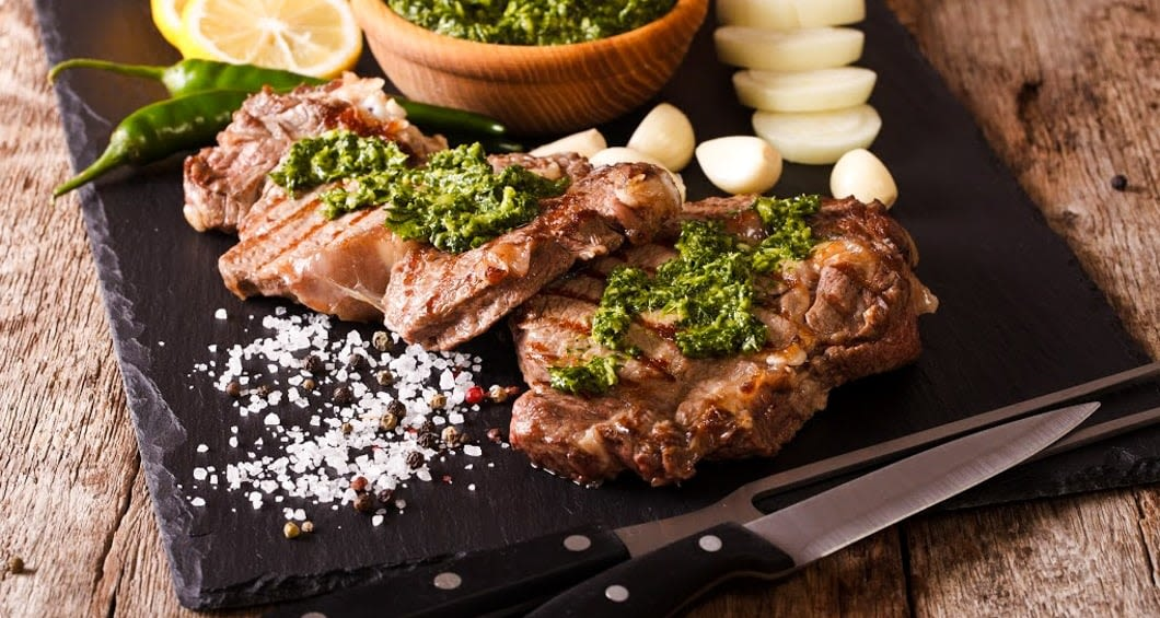 Sliced beef on a serving platter; a popular food in argentina