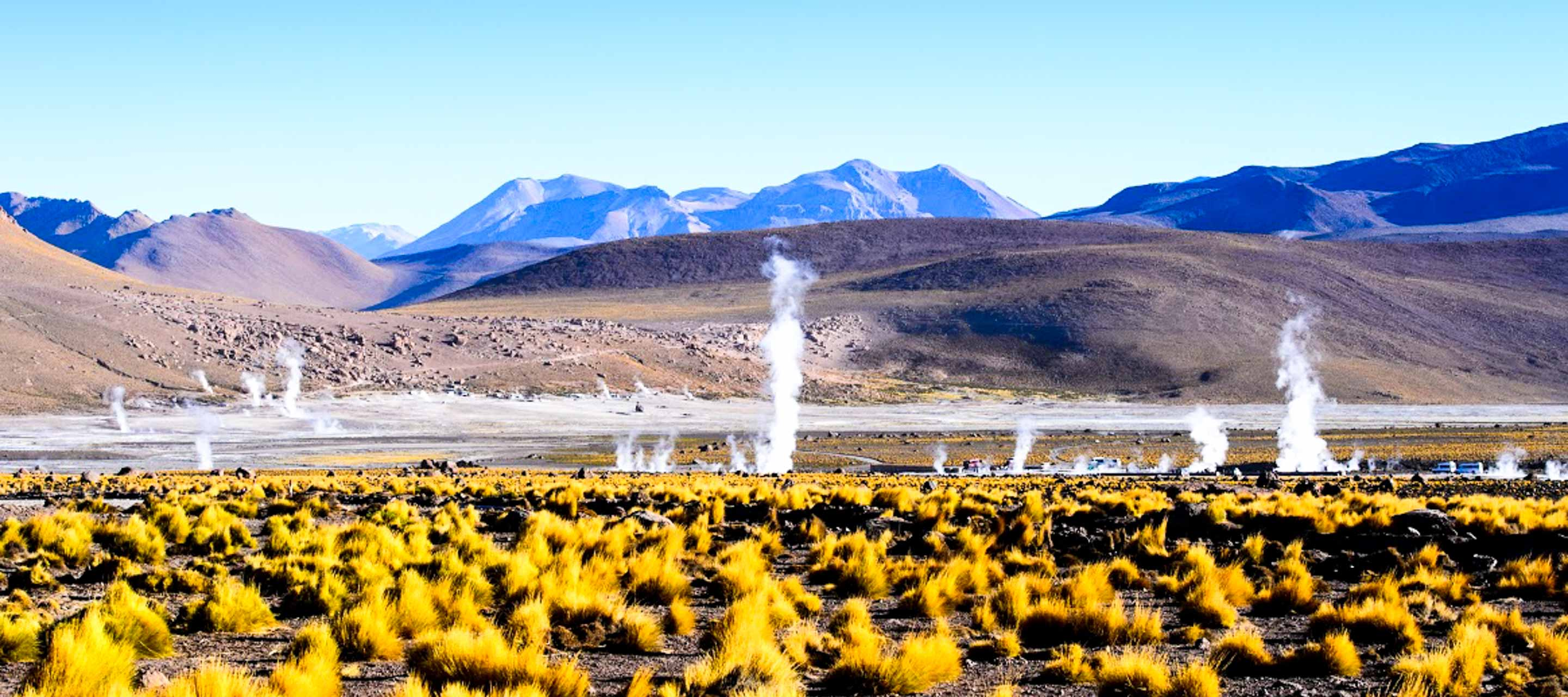 Natural Steam vents in South America