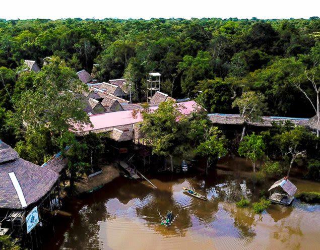 Aerial view of Tahuayo Lodge