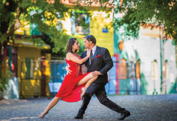 Tango dancers in Buenos Aires Argentina. Combine Uruguay vacations with an Argentina tour.