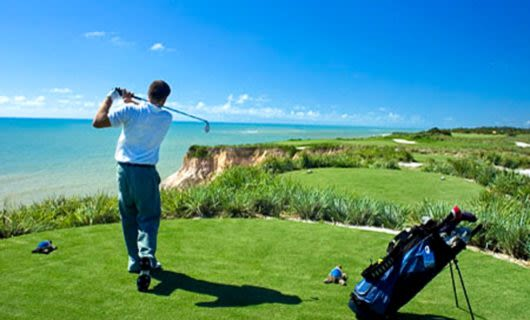 Golfer completes swing at Terravista in Brazil