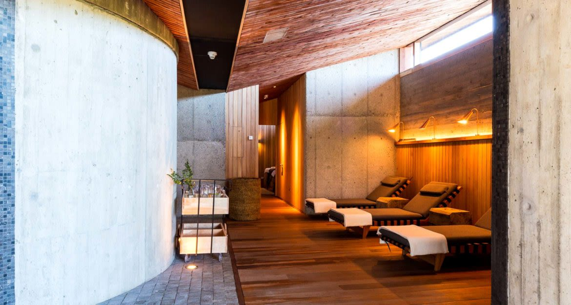 Lounge of spa at Tierra Chiloe Hotel
