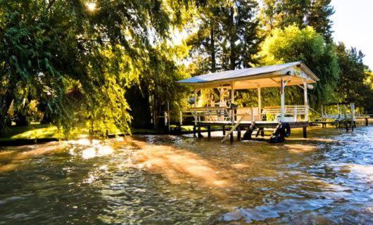 Riverside dock of Tigre Delta