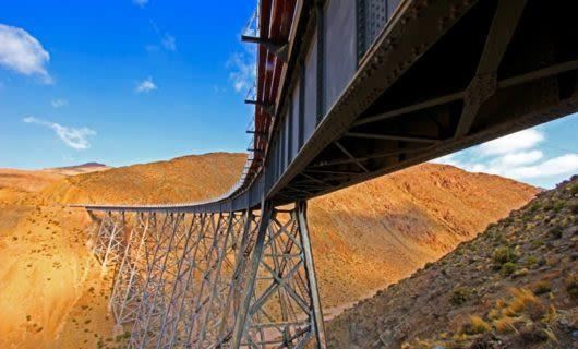 Train bridge in Argentina