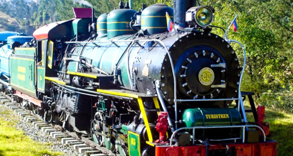 Front view of train engine