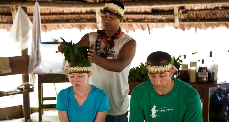 Travelers get service at medicinal garden