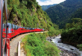 Tren Crucero traveling around the Andes in Ecuador