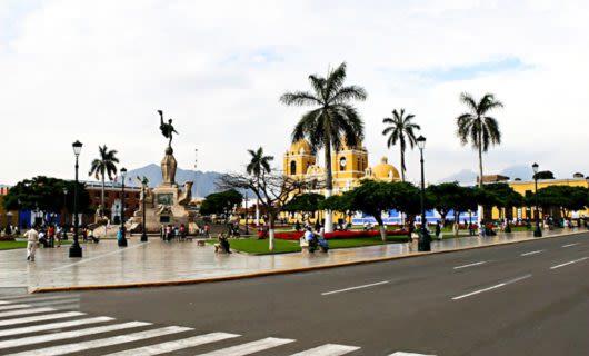 Plaza de Armas in Trujillo, Peru