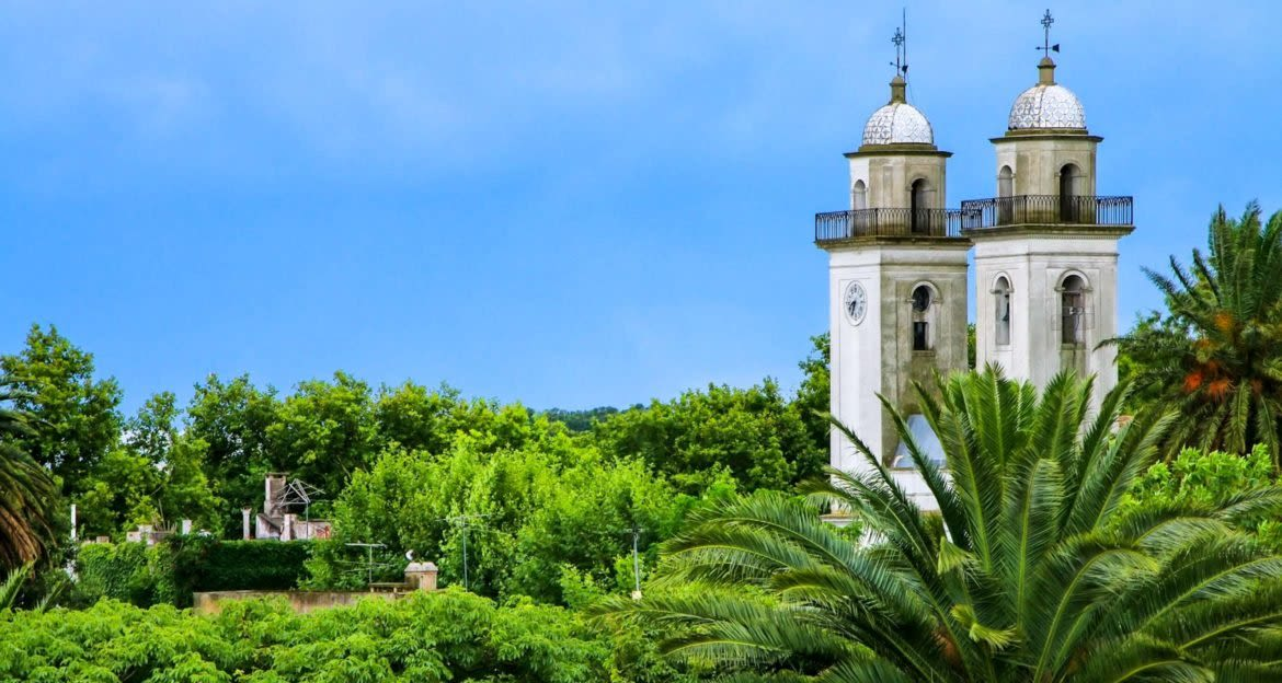Twin bell towers in Uruguay